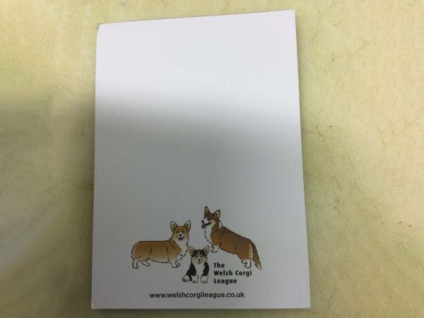 Jotter pads with pictures of Corgis