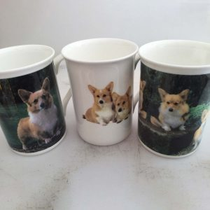 Bone China mugs with Corgi images
