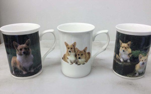 China Mugs with Corgis