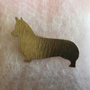 Silver Brooch of a Corgi silhouette
