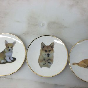 Plates with Corgis