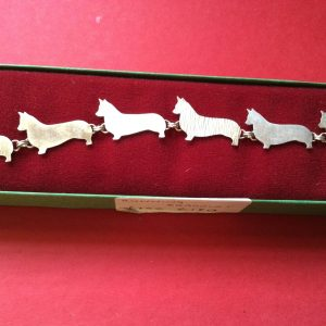 Sterling Silver Corgi bracelet