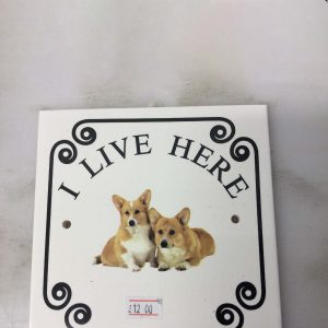 Door Plate with Corgi pictures