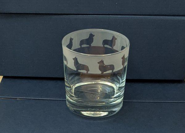 Whisky Glass with Corgi Frieze