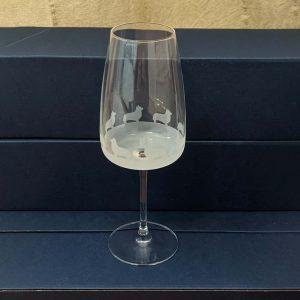 Wine Glass with Corgi Frieze