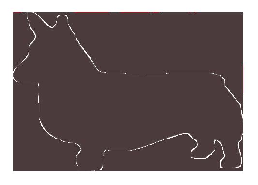 silhouette of a Pembroke Welsh Corgi