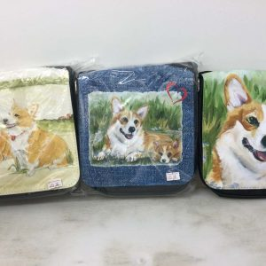 shoulder bag with Corgi illustration